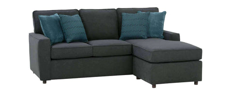 "Living Room Jennifer ""Designer Style"" Apartment Size Sofa With Reversible Chaise"