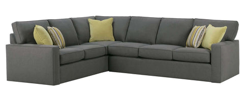 "Living Room Jennifer ""Designer Style"" Fabric Upholstered Sectional Sofa"