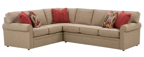 "Living Room Kyle ""Designer Style"" Fabric Upholstered Sectional Couch"