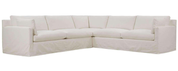Living Room Liza Track Arm Slipcovered Sectional