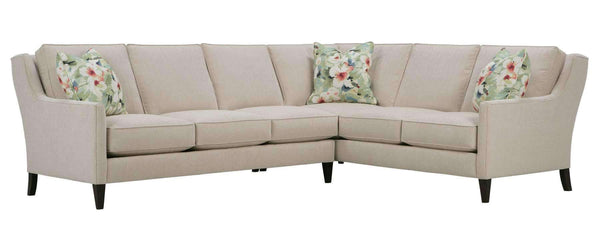 "Living Room Lynne ""Designer Style"" Sleek Transitional Fabric Sectional"