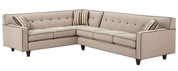 "Living Room Margo ""Designer Style"" Mid Century Modern Button Back Sectional Couch"