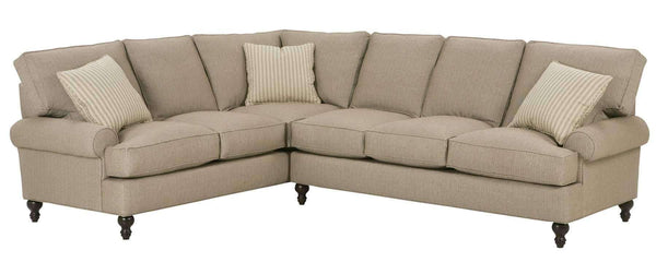 "Living Room Marie ""Designer Style"" Fabric Upholstered Sectional"