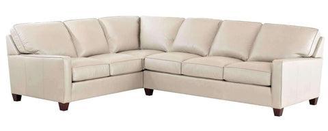 Living Room Mills Contemporary Track Arm Leather Sectional
