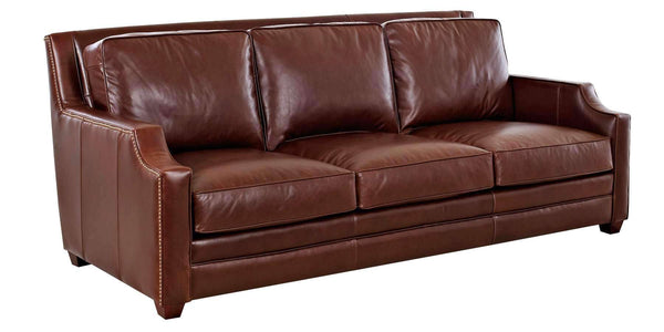Living Room Newtown Leather Furniture Collection With Inset Track Arms