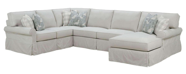 "Living Room Noreen ""Designer Style"" Oversized Comfort Slipcover Sectional Sofa"