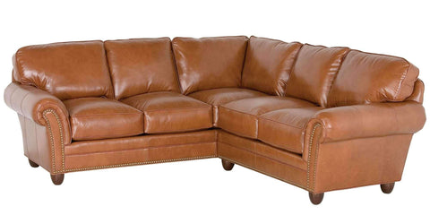 "Living Room Raymond ""Designer Style"" Traditional Leather Sectional"