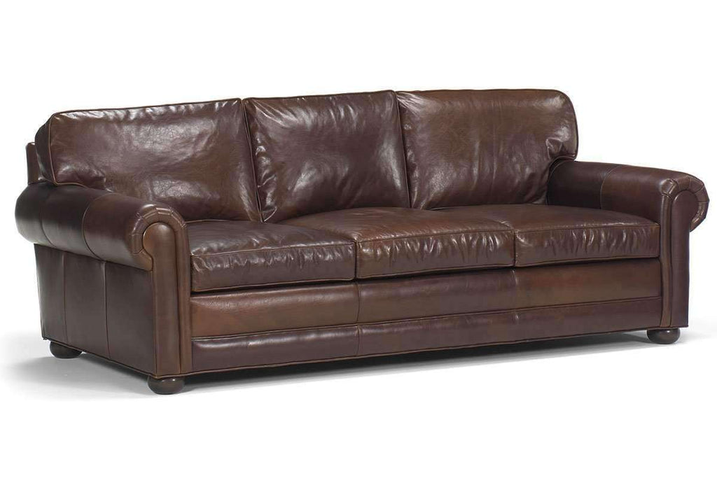 Leather Furniture Traveler Collection: Sheffield Designer Style Select-A-Size Oversized Leather