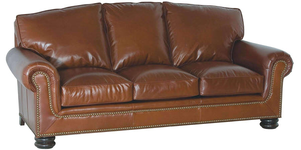 "Living Room Theodore ""Designer Style"" Traditional Leather Pillow-Back Furniture Set"