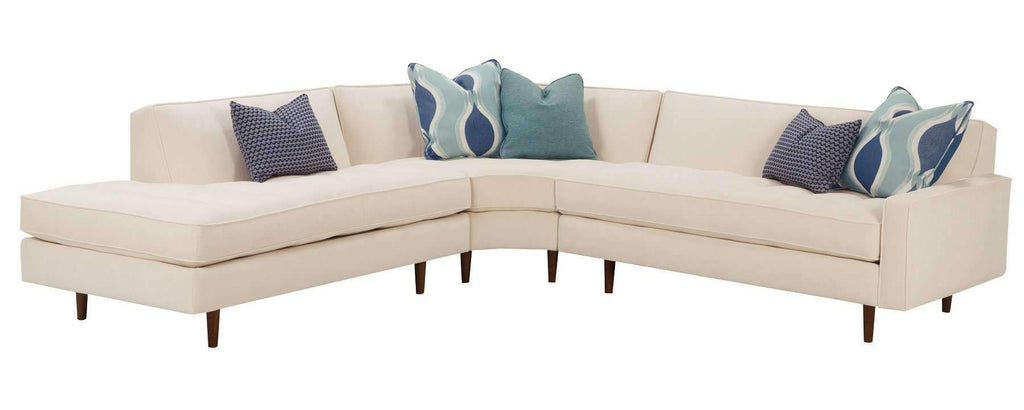 Living Room Zoey Designer Style Mid Century Modern Sectional