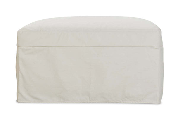 "Liza Collection - Liza ""Quick Ship"" Slipcovered Footstool Ottoman"