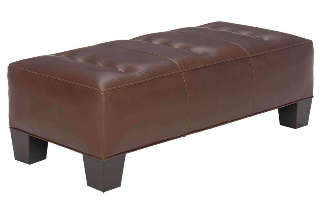 Logan Apartment Size Leather Coffee Table Bench