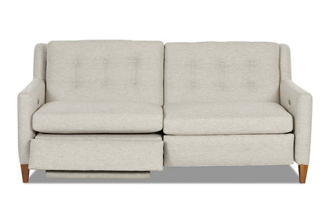 Lowry 77 Inch Fabric Mid-Century Modern Power Wall Hugger Apartment Sofa