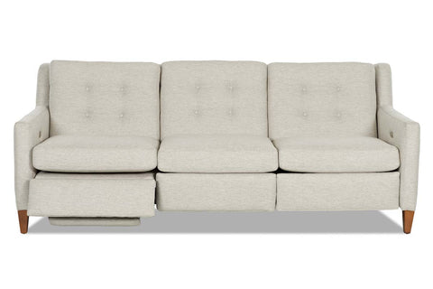Lowry 88 Inch Fabric Mid-Century Modern Power Wall Hugger Reclining Sofa