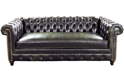 "Manchester ""Designer Style"" Leather Chesterfield Collection w/ Bench Seat"