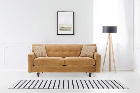 Margo II 75 Inch Mid Century Modern Button Back Apartment Sofa