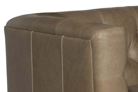 "Mariano Left Bumper Chaise ""Quick Ship"" Tufted Leather Sectional"
