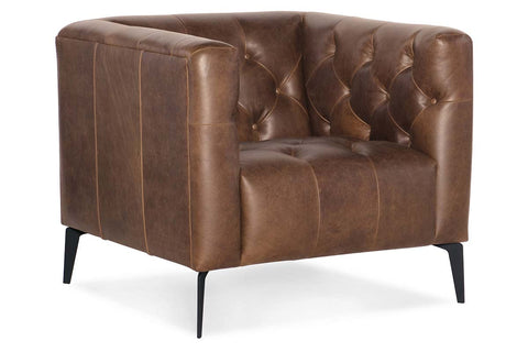 "Mariano ""Quick Ship"" Tufted Top Grain Leather Tight Back Club Chair"