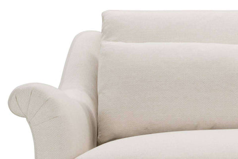 Martha I 93 Inch Fabric Upholstered Single Bench Seat Roll Arm Sofa