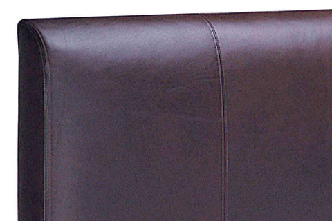 "Upholstered Bed Mercer ""Designer Style"" Leather Panel Headboard"