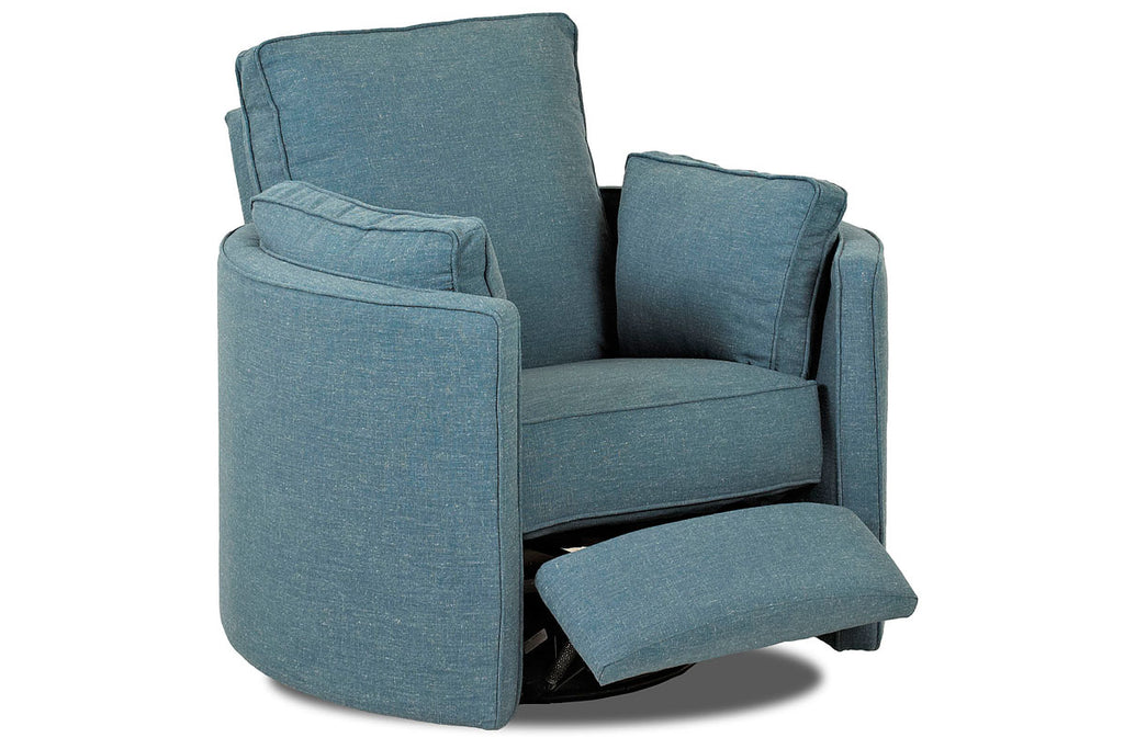 Meredith Contemporary Fabric Swivel Recliner Chair