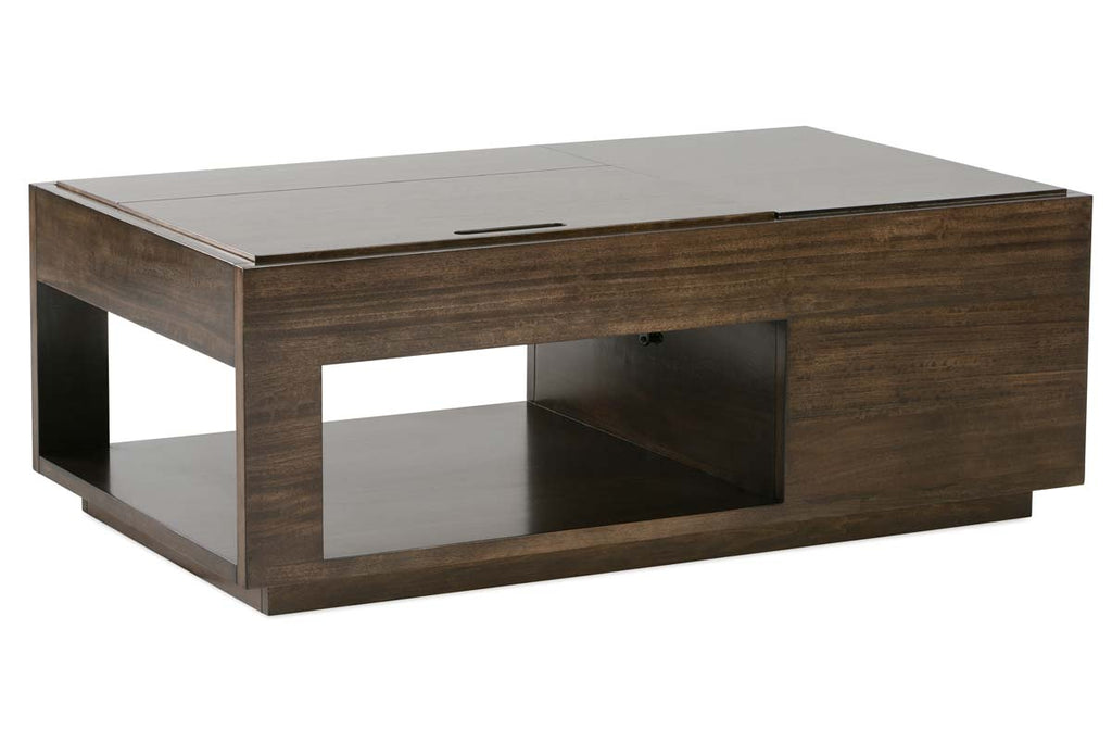 Messina Transitional Rectangular Lift Top Coffee Table With Storage