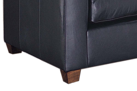 "Metropolitan 85 Inch ""Designer Style"" Tight Back Low Profile Urban Leather Sofa"