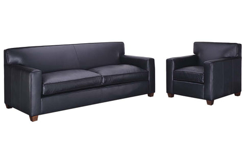 "Metropolitan ""Designer Style"" Leather Sofa Set"