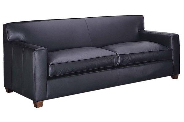 "Metropolitan 85 Inch ""Designer Style"" Track Arm Leather Queen Sleeper Sofa"
