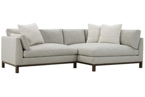 "Mila ""Designer Style"" Two Piece Bench Cushion Contemporary Sectional Sofa"