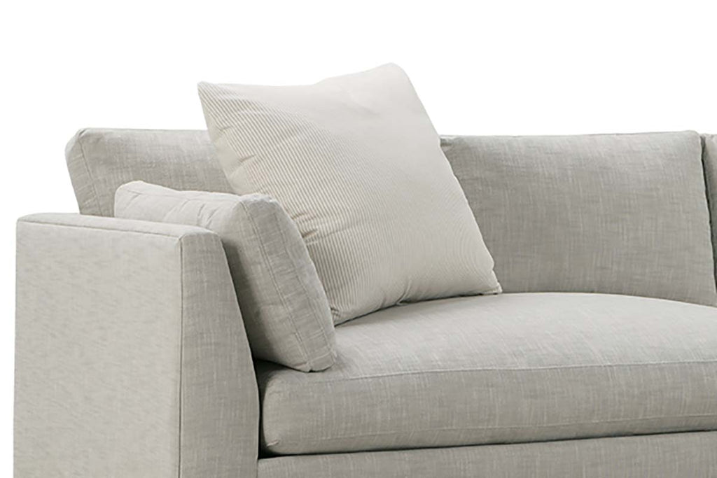 Mila Designer Style Two Piece Bench Cushion Contemporary Sectional S