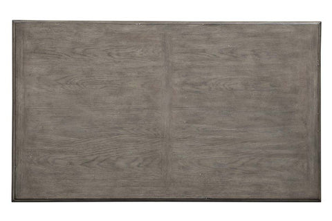 Miles Weathered Taupe Traditional Two Drawer Coffee Table With Lower Shelf