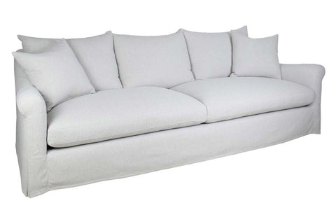 "Monique 104 Inch ""Quick Ship"" Grand Scale Slipcovered Sofa"