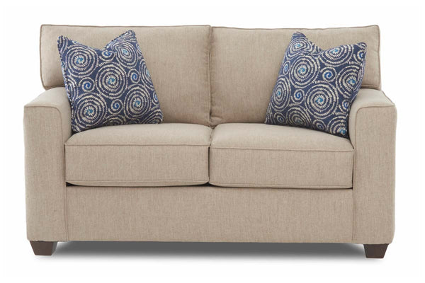 "Monty ""Custom Value"" Transitional Track Arm Two Seat Fabric Loveseat"