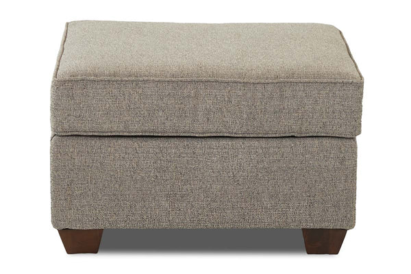 "Monty ""Custom Value"" Transitional Fabric Footstool Ottoman"
