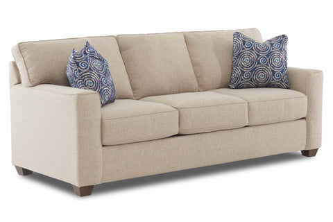 "Monty ""Custom Value"" 87 Inch Transitional Track Arm Three Seat Fabric Sofa"