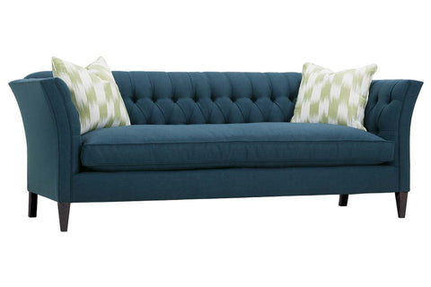 Muriel 88 Inch Single Bench Seat Button Tufted Back Sofa