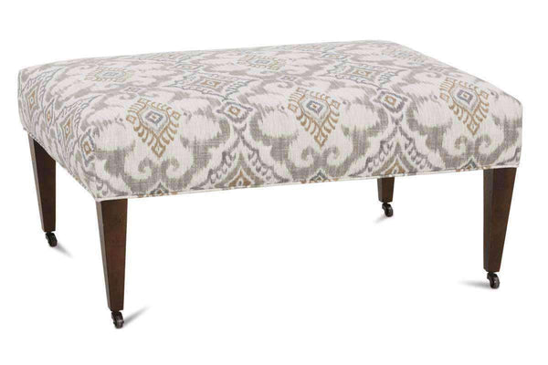 Ottomans & Benches Nathan Square Fabric Coffee Table Bench With Casters