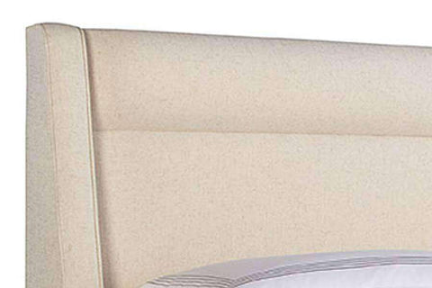 "Upholstered Bed Newcomb ""Designer Style"" Modern Fabric Wing Platform Bed"