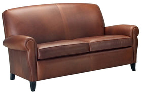 "Newport 74 Inch ""Designer Style"" Leather Retro Two Seat Apartment Sofa"