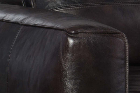 "Nico Graphite ""Quick Ship"" Grand Scale Top Grain Leather Pillow Back Chair"