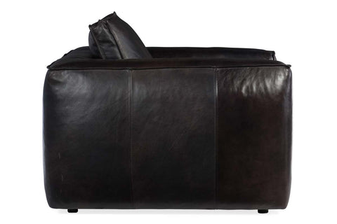 "Nico Graphite ""Quick Ship"" Grand Scale Leather Living Room Furniture Collection"