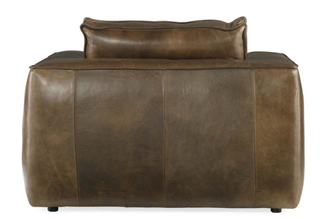 "Nico Taupe ""Quick Ship"" Grand Scale Top Grain Leather Pillow Back Chair"