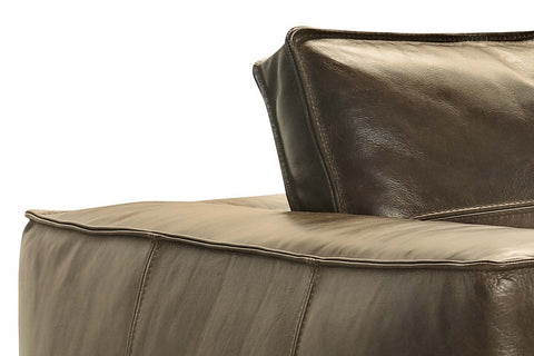"Nico Taupe ""Quick Ship"" Grand Scale Leather Living Room Furniture Collection"