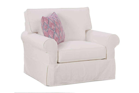 "Slipcovered Furniture Noreen ""Designer Style"" Oversized Comfort Slipcovered Chair 1/2"