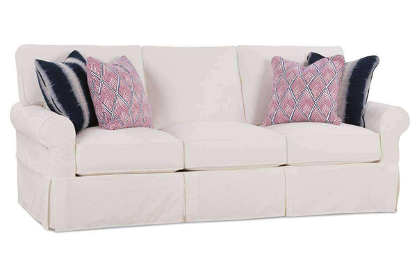 "Slipcovered Furniture Noreen ""Designer Style"" Oversized Comfort Slipcovered Queen Sleeper Sofa"