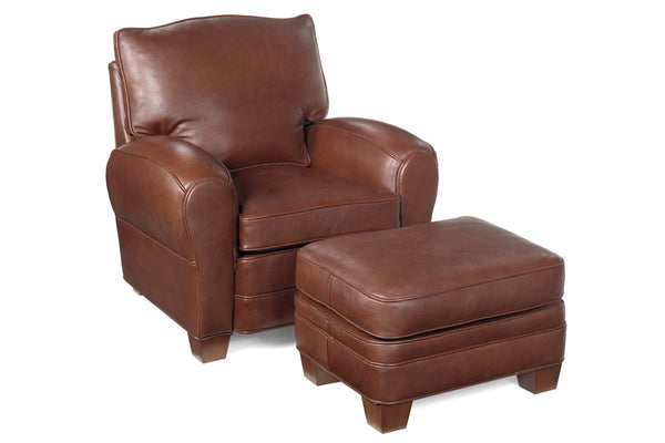 "Orleans ""Designer Style"" Leather Club Style Living Room Furniture Collection"