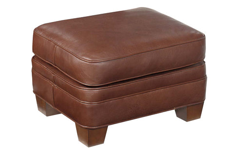 Orleans Leather Pillow Top Footstool Ottoman
