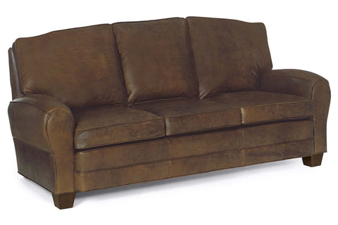 Orleans French Style 2 Cushion Leather Loveseat (Photo For Style Only)