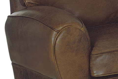 Orleans 83.5 Inch Vintage Leather French Club Sofa
